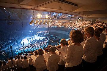 """So ähnlich wie bei der Uraufführung des Pop-Oratoriums """"Luther"""" am 31. Oktober 2015... Foto: EKvW"""